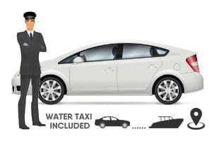 Voiture privée + Bateau taxi